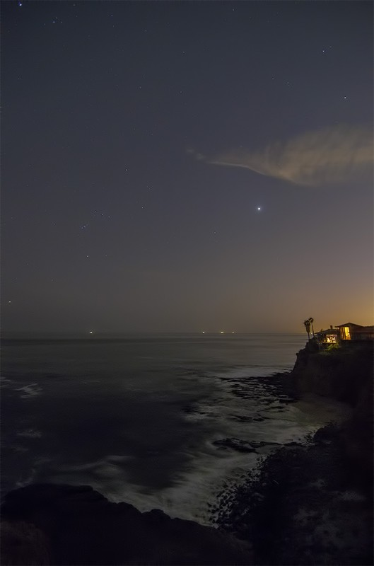 laguna beach california after the sunset stars surf night photography nikon d7000 tokina 11-16mm