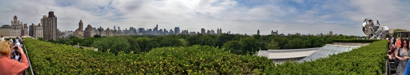 Panorama of New York City manhattan from the top of the metropolitan museum of art