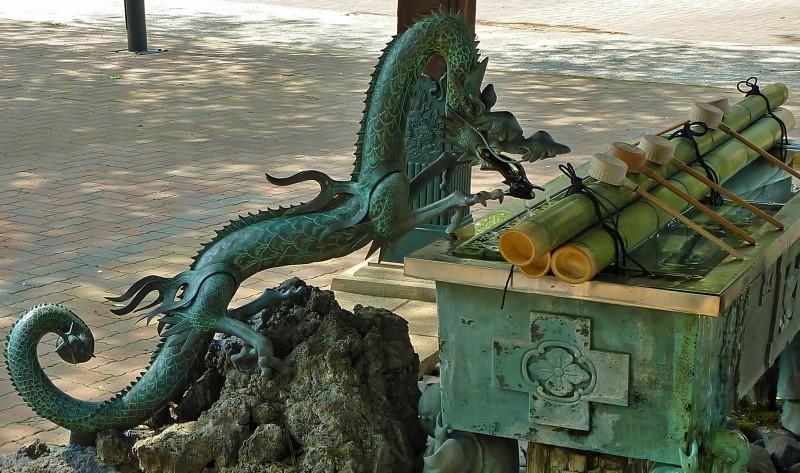 thirsty dragon buddhist temple water purification koenji tokyo suginami ku