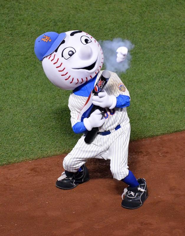 mr. met t-shirt cannon new york major league baseball mascot