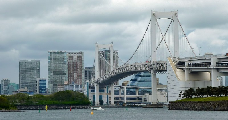tokyo odaiba rainbow bridge