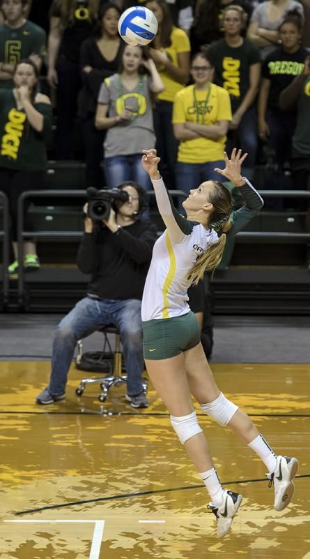women's volleyball oregon ducks miss oregon alaina bergsma