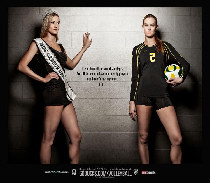 alaina bergsma oregon women's volleyball poster free eugene
