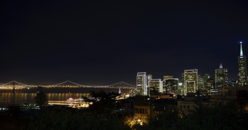 night panorama san francisco california photography nikon d600 24-70mm g f2.8 lens tripod