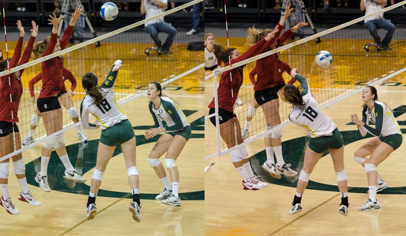 ncaa women's volleyball standford pac-12 oregon university eugene Martenne Bettendorf Canace Finley