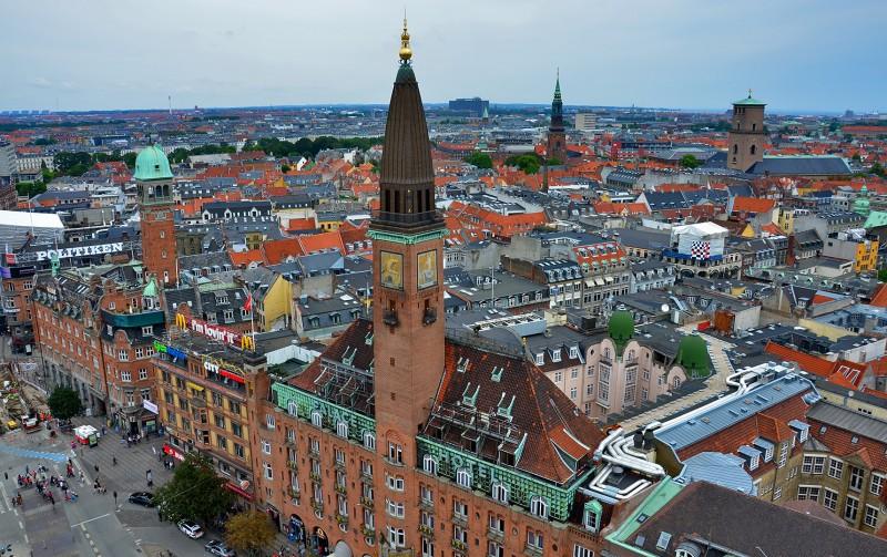Københavns Rådhus Scandic Palace Hotel Copenhagen city center aerial view nikon d7000 18-200mm vr II