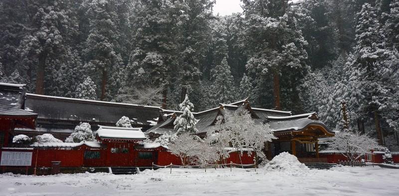 二荒山神社 Futarasan jinja yuki snow nikko