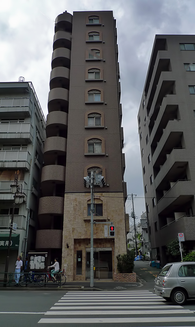Japanese apartment buildings for Architecture tokyo