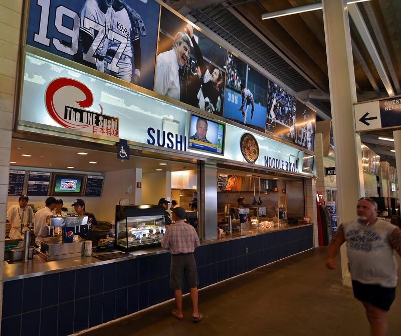 yankee stadium sushi