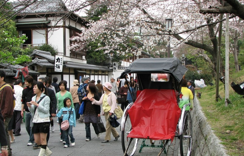 jinrikisha kyoto japan rickshaw ricksha