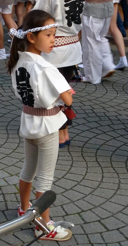 cute japanese girl at matsuri japan festival