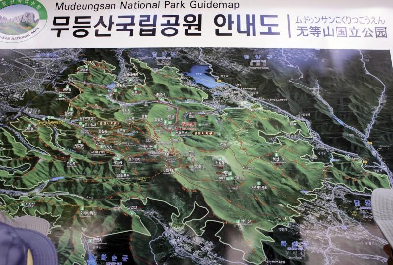 mudeungsan national park guidemap map mountain