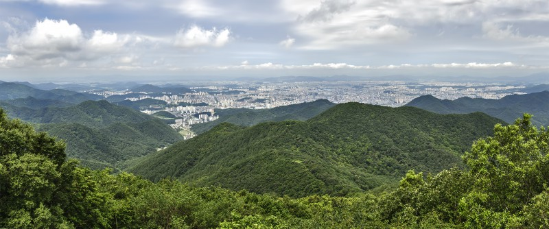 photomerge panorama gwangju mount muduengsan