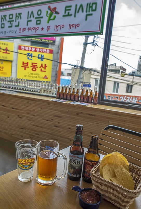 corona gwangju korea mexican food beer