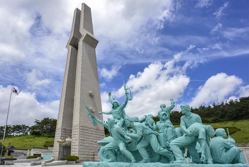 korea gwangju 5-18 memorial cemetary 5·18민중항쟁추모탑