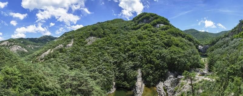 photomerge panorama jikso waterfall