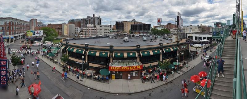 photomerge panorama lansdowne street fenway park
