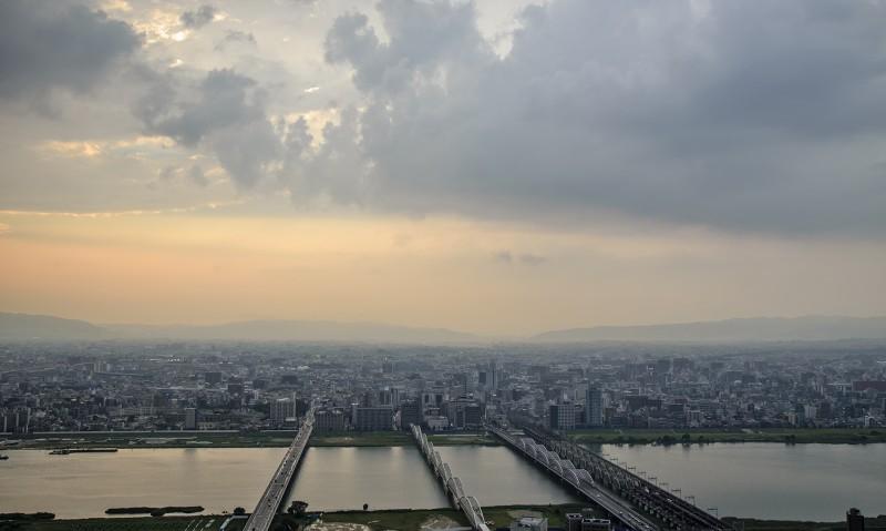 shinyodogawa from Umeda Sky Building 梅田スカイビル