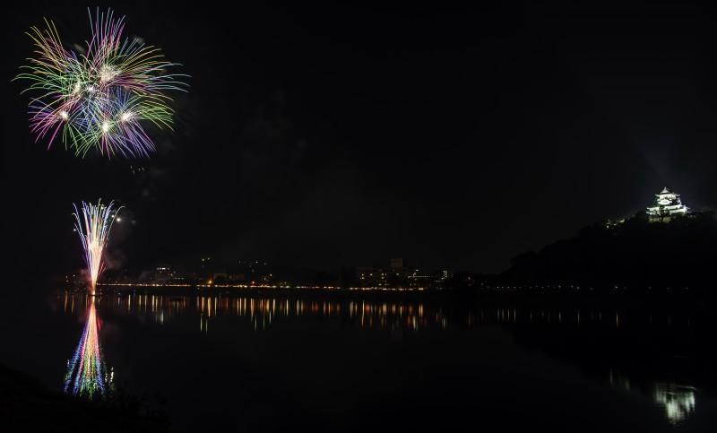 日本ライン夏まつり納涼花火大会 inuyama castle fireworks 2048p