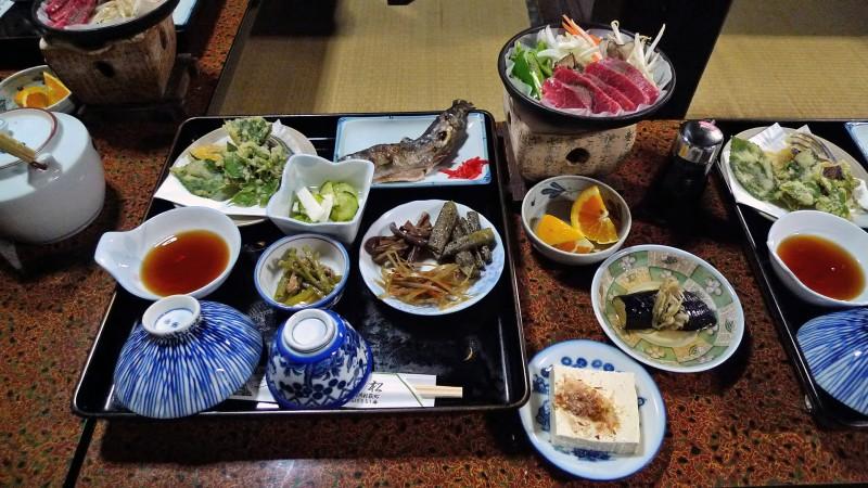 Shirakawago Gasshozukuri dinner Hisamatsu Minshuku