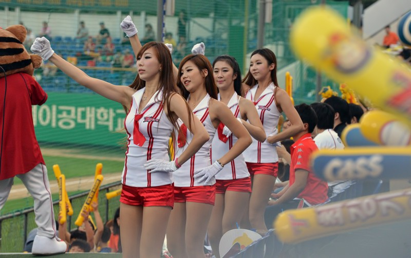 kia tigers korean cheerleaders hot female girls