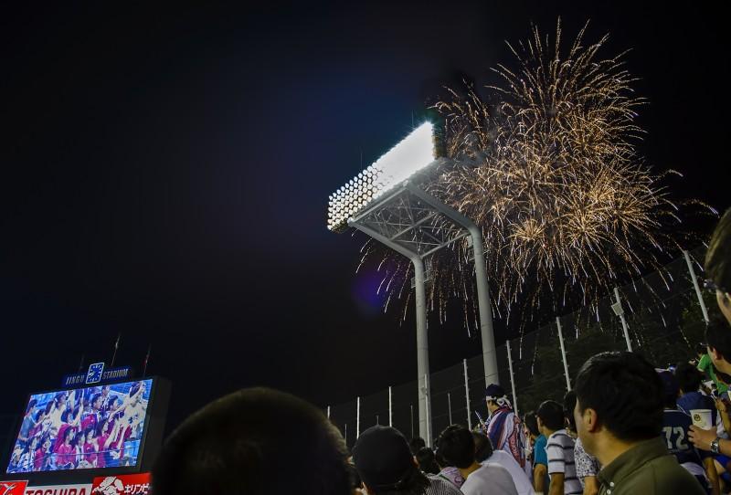 fireworks at jingu stadium swallows game