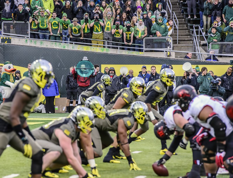 duck dynasty university oregon utah utes football autzen stadium