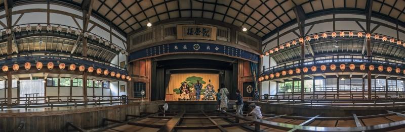 photomerge panorama Kabuki Theater Kurehaza 呉服座 Meiji Mura 明治村