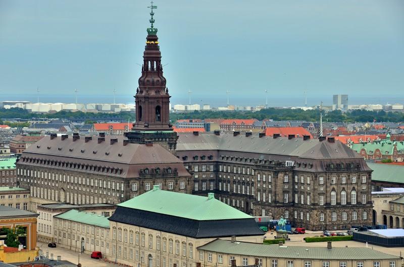 Christiansborg Palace copenhagen from city hall