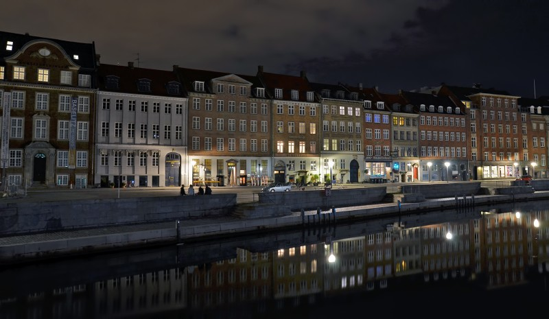 Gammel Strand after dark copenhagen