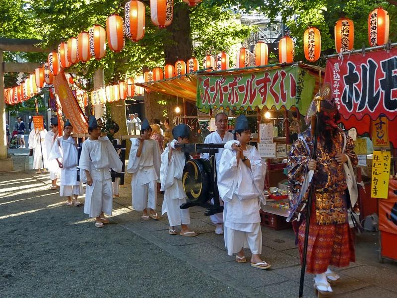 shrine festival tokyo shinjuku nishiwaseda japan tenso jinja