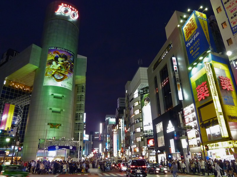 shibuya night 100 matsumoto kiyoshi drug store