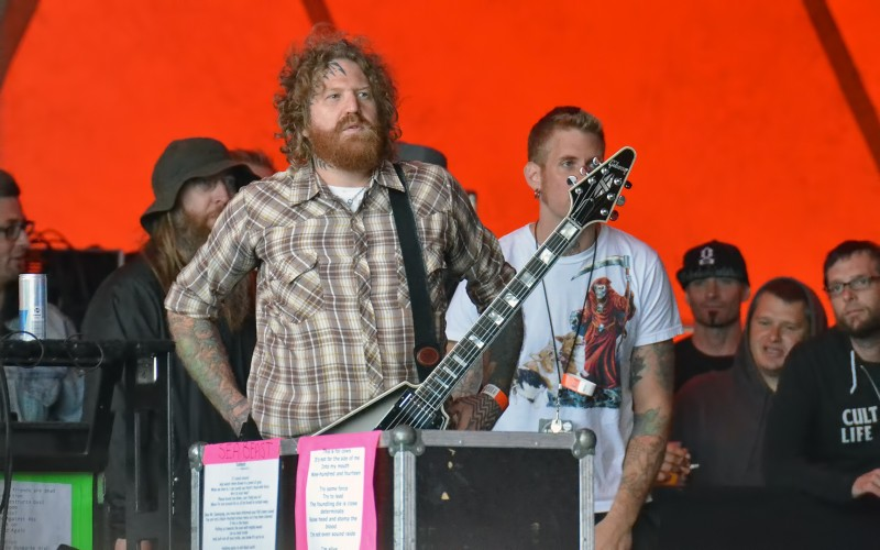 mastodon roskilde brent hinds about to hit the stage