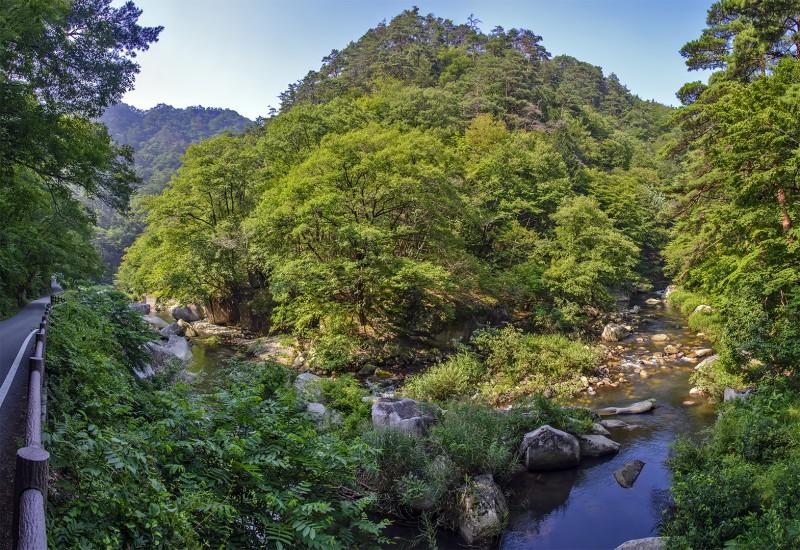 photomerge panorama shosenkyo hike