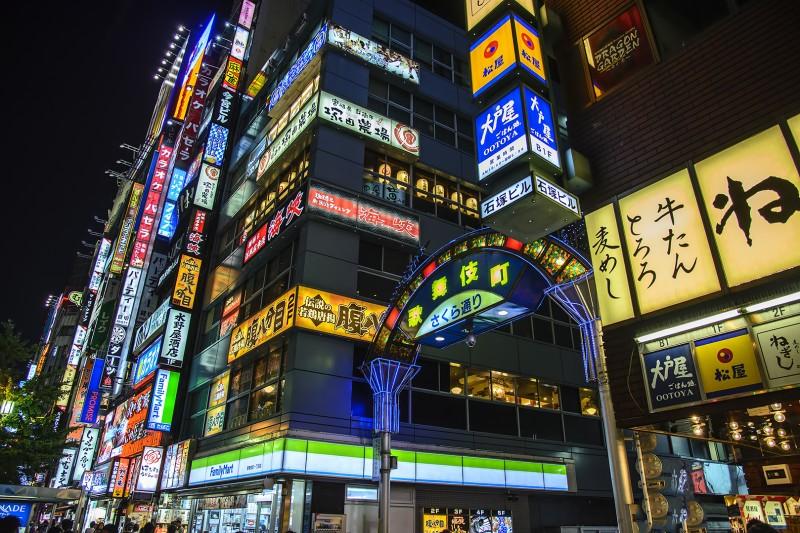 kabukicho shinjuku tokyo japan night