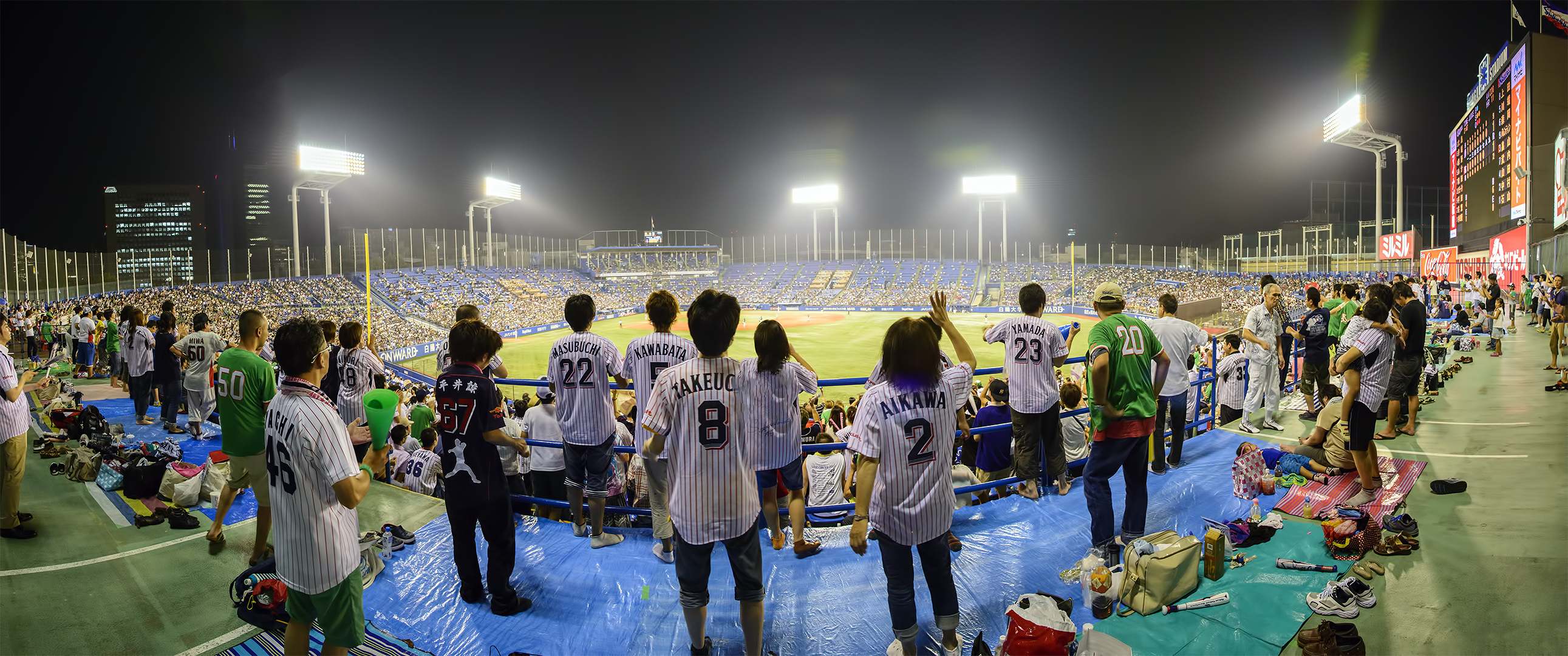 明治神宮野球場 meiji jingu panorama photomerge