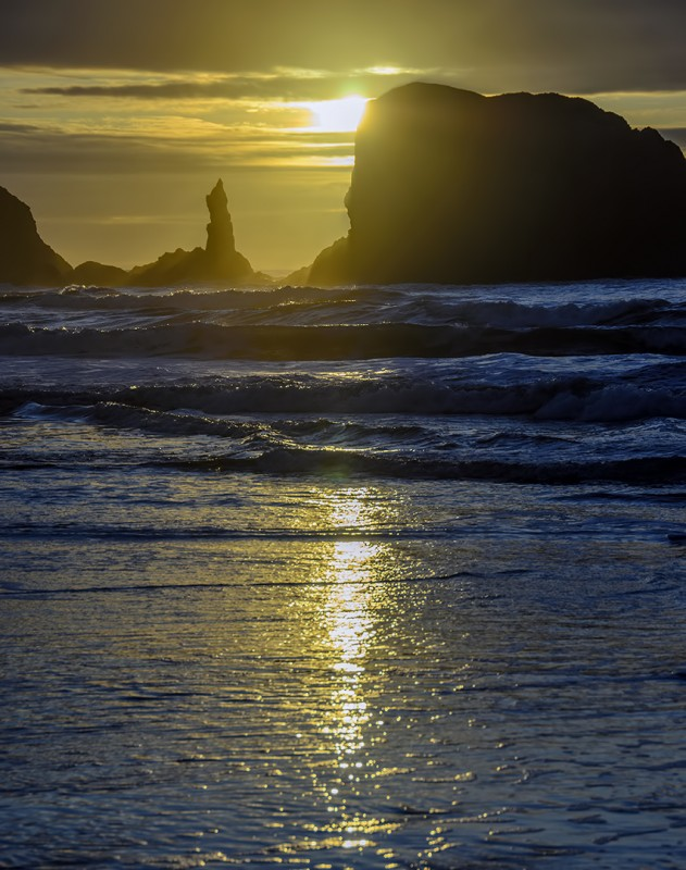 bandon oregon sunset
