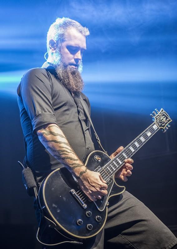Björn Gelotte in flames medford armory gibson les paul guitar