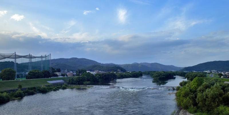 shinkansen view sanyo yamaguchi golf driving range river