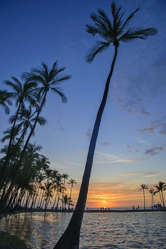 anaehoomalu beach sunset big island hawaii marriott
