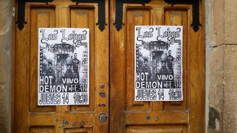 los lobos bar flyer hot demon fear guanajuato mexico