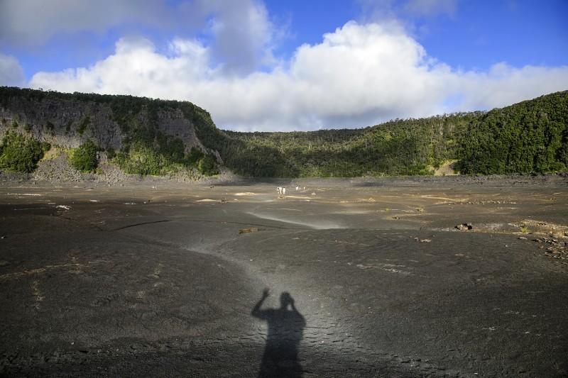 Hiking in Kilauea Iki Crater