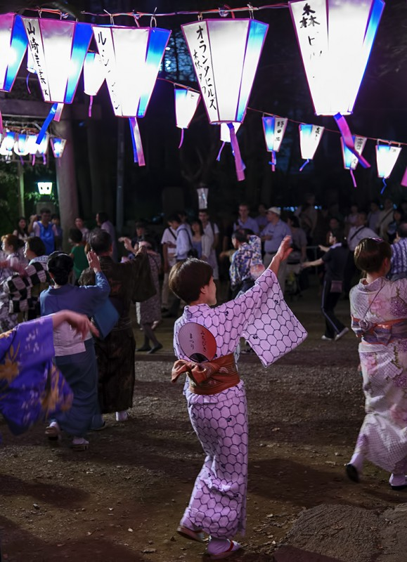 bon odori Nishikubo Hachiman Jinja Summer Festival (西久保八幡神社例大祭[夏祭り2013])