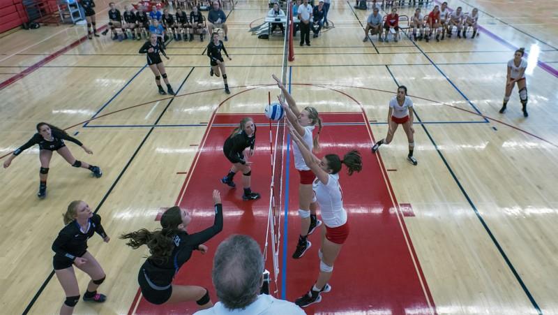 Ashland High School Volleyball Ellie case grace lenthe