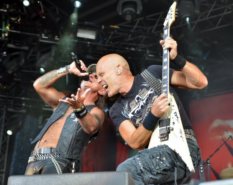 Mark Tornillo Wolf Hoffmann Mike Tyson Getaway Rock Festival 2011 Gavle Sweden