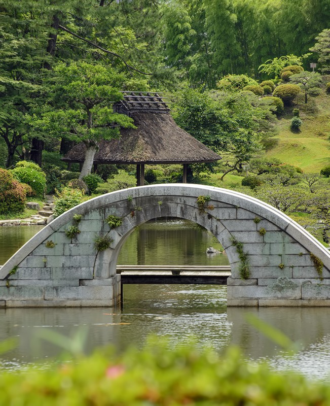 Shukkei-en 縮景園 kokokyo rainbow bridge