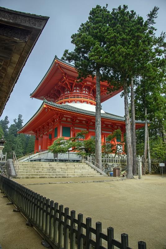 壇上伽藍 Daito 大塔 The Great Stupa Koyasan Danjo Garan