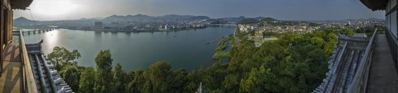inuyama castle panorama photomerge