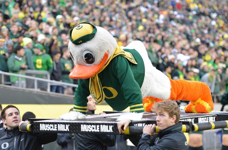 oregon ducks donald duck mascot