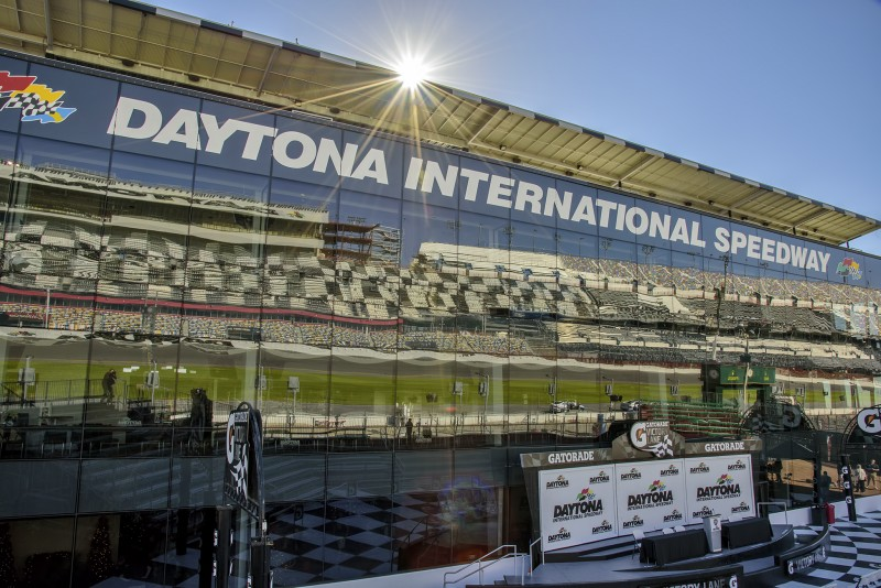 SOU football daytona speedway victory lane reflection sunstar